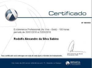 Certificação Impacta - Rodolfo Sabino