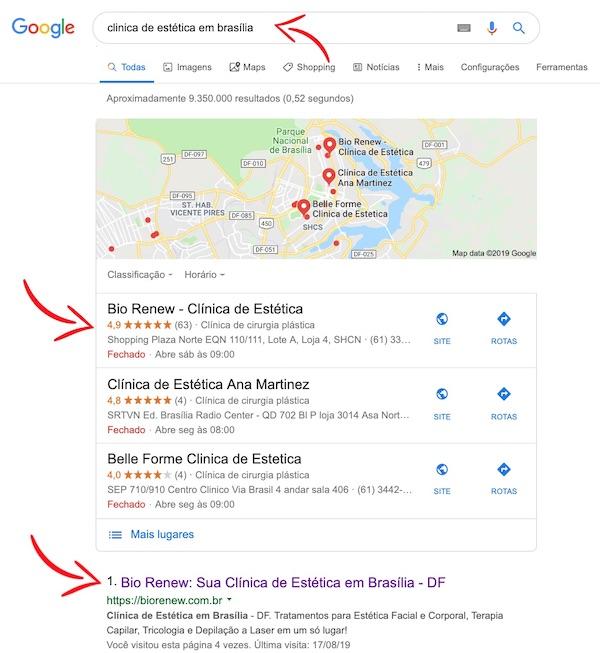 Busca Google - Bio Renew